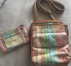 FOSSIL Leather Crossbody Multicolor With Changepurse - $31.68