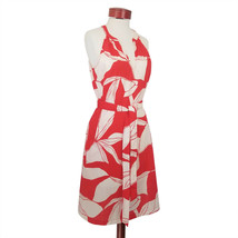 A New Day Sleeveless Dress Cotton Red Hawaiian Floral Pattern Size S,L,XL - $15.70+
