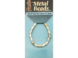 """Darice Metal Bright Silver Spacer Beads, 3.5"""" Strand - $2.99"""