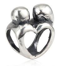 925 Sterling Silver European Charm Mom Child Heart Newborn Baby 1st Chri... - $19.95