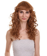 Adult Women Long Curly Glamour Party Event Cosplay Light Brown Wig HW-653 - $29.85