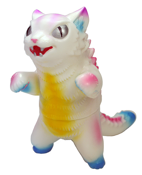 Max Toy Pink Pastel White Negora Handpainted by Mark Nagata