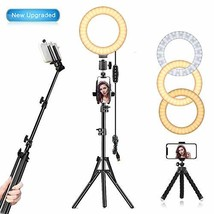 """EEIEER Ring Light, 6"""" Selfie Ring Light with Non-Rust Iron Tripod Stand,... - $33.62"""