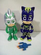 Lot Of 2 Disney Jr. Pj Masks Action Figures Turbo Blast Gekko & Catboy - $14.65