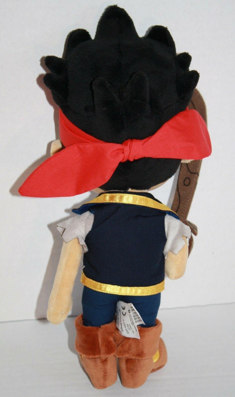 "JAKE AND THE NEVERLAND PIRATES 14"" Disney Store Plush Doll Stuffed Soft Toy"