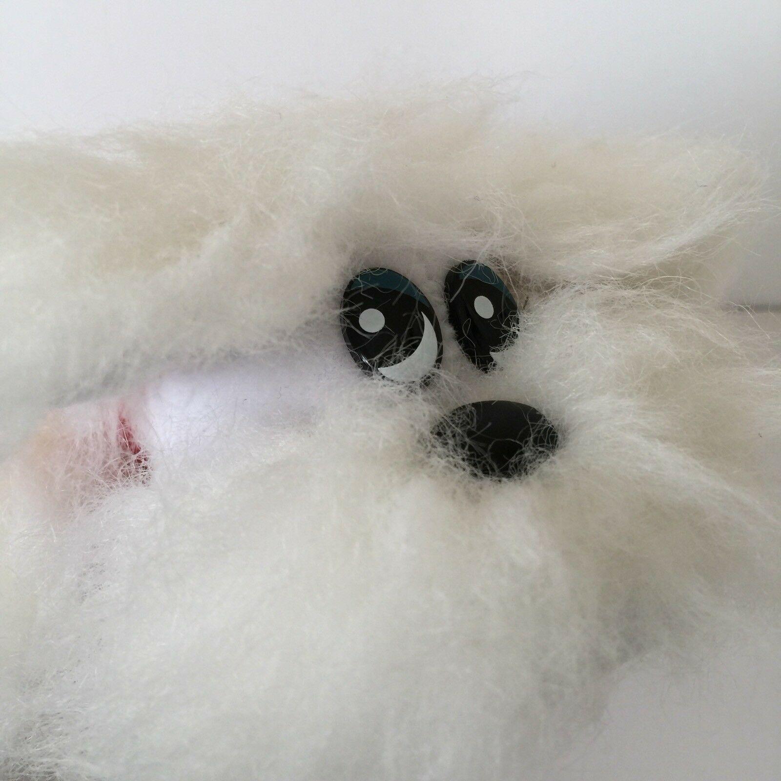 """Tonka Newborn Pound Furries 9"""" White Furry Plush Pound Puppy Stuffed Animal Toy"""