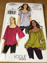OOP 2009 UNCUT EZ VOGUE MISSES BOHO PEASANT TOP SHIRT 18 20 22 24 PATTER... - $13.31