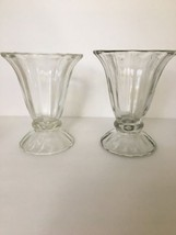 Vintage Ice Cream Sunday Glass Lot of 2 Soda Fo... - $14.84