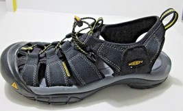 KEEN NEWPORT Waterproof Sport Sandals Black Yellow Size 10 Lace with Toggle - $63.40 CAD