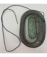 Mailinox Vintage Collapsible Metal Wire Mesh Live Fish Basket. Made In F... - $28.04