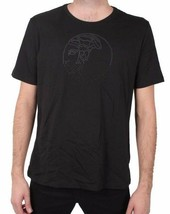 Versace Collection Embellished Gun Metal Studded Medusa Men's Tee NWT