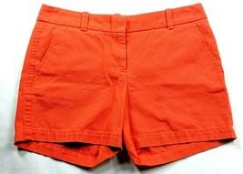 J Crew Women's Chino Shorts Size 0 Solid Orange Pockets  - $24.75