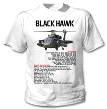Black Hawk Helicopter Inspired - New White Cotton Tshirt - $23.60