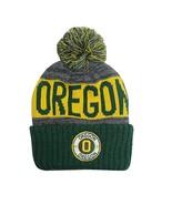 Oregon Men's Winter Knit Landmark Patch Pom Beanie (Green/Gold) - $12.95