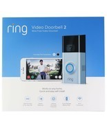 Ring Video Doorbell 2 Satin Nickel Brand New Factory Sealed  - $109.99