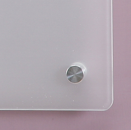 "Frosted Glass Dry-Erase Board - 17 3/4"" x 23 5/8"" - 45 x 60 cm with tray"