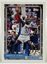 1992-93 Topps SHAQUILLE O'NEAL Rookie RC Card RC #362 Orlando Magic NEAR... - $37.16