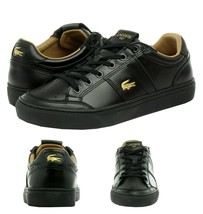 Lacoste Men's Casual Courtline 120 1 US CMA Athletic Shoes Leather Black... - $119.95