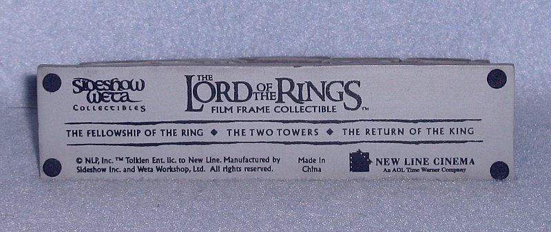 Lord of the Rings Film Frame Collectible Figurine NIB