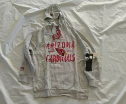 NFL Men's Arizona Cardinals Long Sleeve Hoodie Gray Sweatshirt XL - $65.45