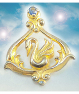HAUNTED NECKLACE 7000x GOLDEN SWAN OF SUCCESS EXTREME MAGICK MYSTICAL TR... - $377.77