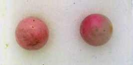 Rhodonite Gemstone 6mm Stud Earrings 2 - $8.02