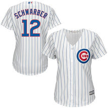 Chicago Cubs Kyle Schwarber #12 Majestic Women's Cool Base Player Jersey... - $44.99