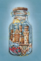 Counted Cross Stitch Hand Embroidery Kit Hogwarts Castle - $17.22