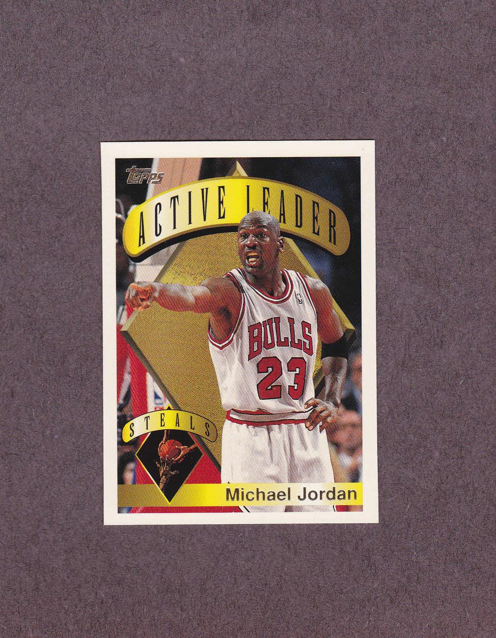 1995-96 Topps # 4 Michael Jordan Chicago Bulls NM