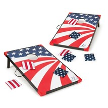 Cornhole Bean Bag Toss Sports Stars & Stripes Outdoor Games Fun Portable America
