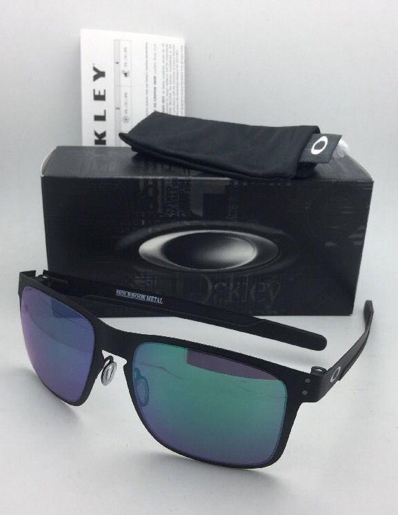 0221e95a16 New Oakley Sunglasses HOLBROOK METAL OO4123-04 Matte Black w Jade Iridium  Lenses
