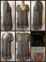 NEW! Confess Ladies Top Sz Medium Floral 100% Polyester Lined Retail $38... - $8.90