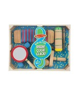Melissa & Doug Band-in-a-Box Drum! Click! Clack! - 6-Piece Musical Instr... - $22.52