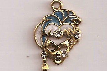 Primary image for Mardi Gras Tibetan Gold Plated Pendant