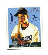 2008 Upper Deck Goudey Mini Green Back David Eckstein Card-#/88 - $2.97