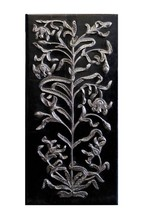 Wall Panel Hanging Wood Hand Carving Home Decor Art Silver Vintage Colle... - $2,136.08