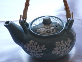 Floral Tea Pot, Ceramic, Cottage Look, Shabby ... - $7.50