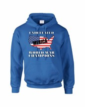 Adult Hoodie Undefeated World War Champions 4th Of July USA - $24.94+