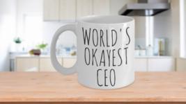Worlds Okayest CEO Mug Christmas Gift Idea Coffee Cup - $14.65+