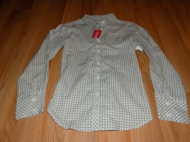 Size 10 Gymboree Green Pink White Plaid Checked Button Up Shirt Top New Merry - $16.00