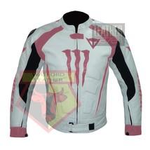 DAINESE 1011 PINK WATERPROOF COWHIDE LEATHER MOTORCYCLE MOTORBIKE ARMORE... - $289.99