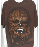 OFFICIAL STAR WARS CHEWBACCA CHEWIE BIG FACE BROWN GRAPHIC T-SHIRT SIZE ... - $11.99