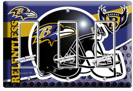 BALTIMORE RAVENS FOOTBALL TEAM 3 GFCI LIGHT SWITCH WALL PLATE MANCAVE RO... - $16.19