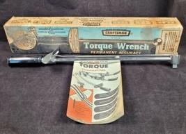 "Vintage Craftsman Torque Wrench 0-150 Ft Lb 1/2"" Drive Engine Torque Booklet - $27.99"