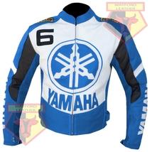 YAMAHA 6 SKY BLUE MOTORCYCLE MOTORBIKE BIKERS ARMOURED COWHIDE LEATHER J... - $194.99