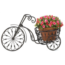 Metal Plant Stand, Decorative Tall Planters, Contemporary Bicycle Plant ... - $39.08