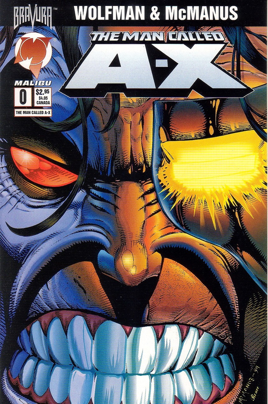 The Man Called A-X Issue #0 Shawn McManus Malibu Comics - 1995