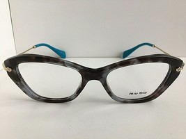 New Miu Miu VMUO4I UBA-101 52mm Cat Eye Gray Turquoise Women's Eyeglasses Frame  - $299.99