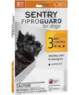 Sentry Fiproguard For Dogs Squeeze-on (4-22 pounds) - 3 Ct - €12,10 EUR