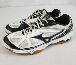 Mizuno Wave Hurricane 2 Volleyball Court Shoes Women's Size 9.5 White Black - $21.99